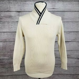 Men's H & M 100% Cotton Sweater Ivory Long Sleeve